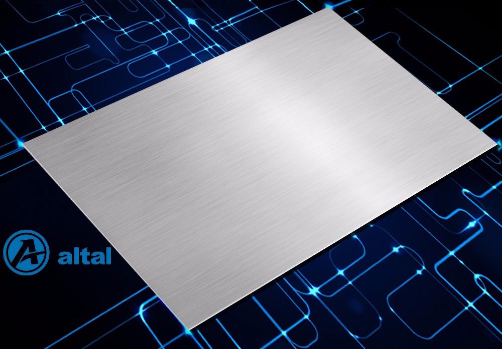 银色 短纹 阳极氧化拉丝铝板 D50R