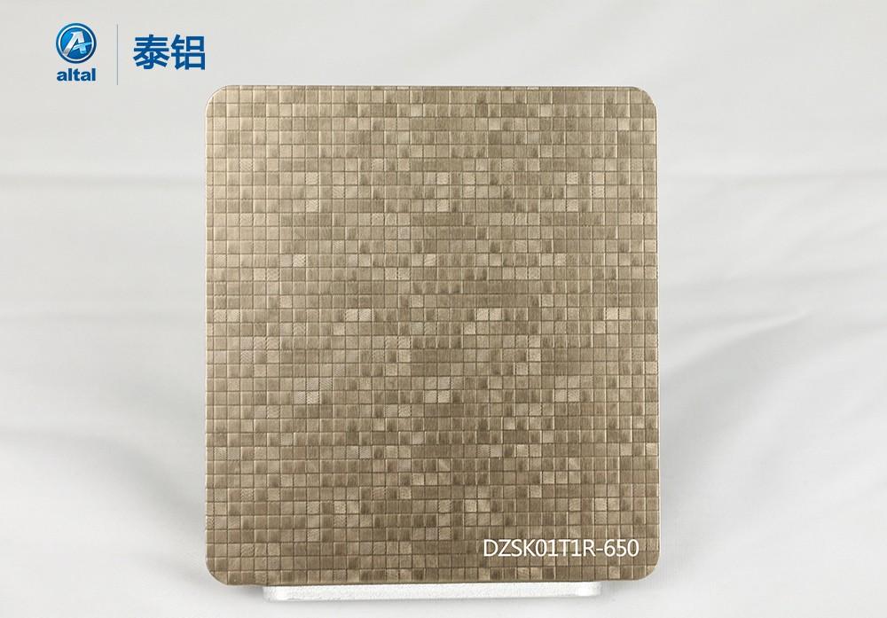 精轧压花铝板DZSK01T1R-650